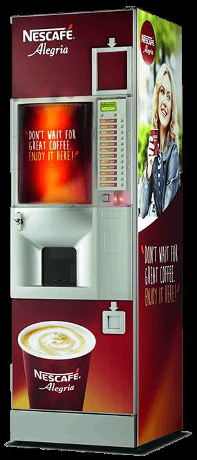 Nescafe Alegria A12500 típusú bérelhető kávéautomata képe